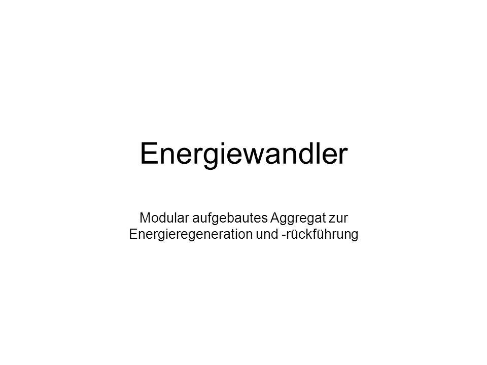 Energiewandler Modular aufgebautes Aggregat zur Energieregeneration und -rückführung
