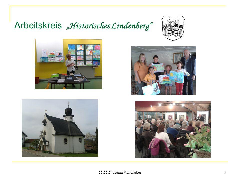 """11.11.14 Hanni Windhaber 4 Arbeitskreis """"Historisches Lindenberg"""""""