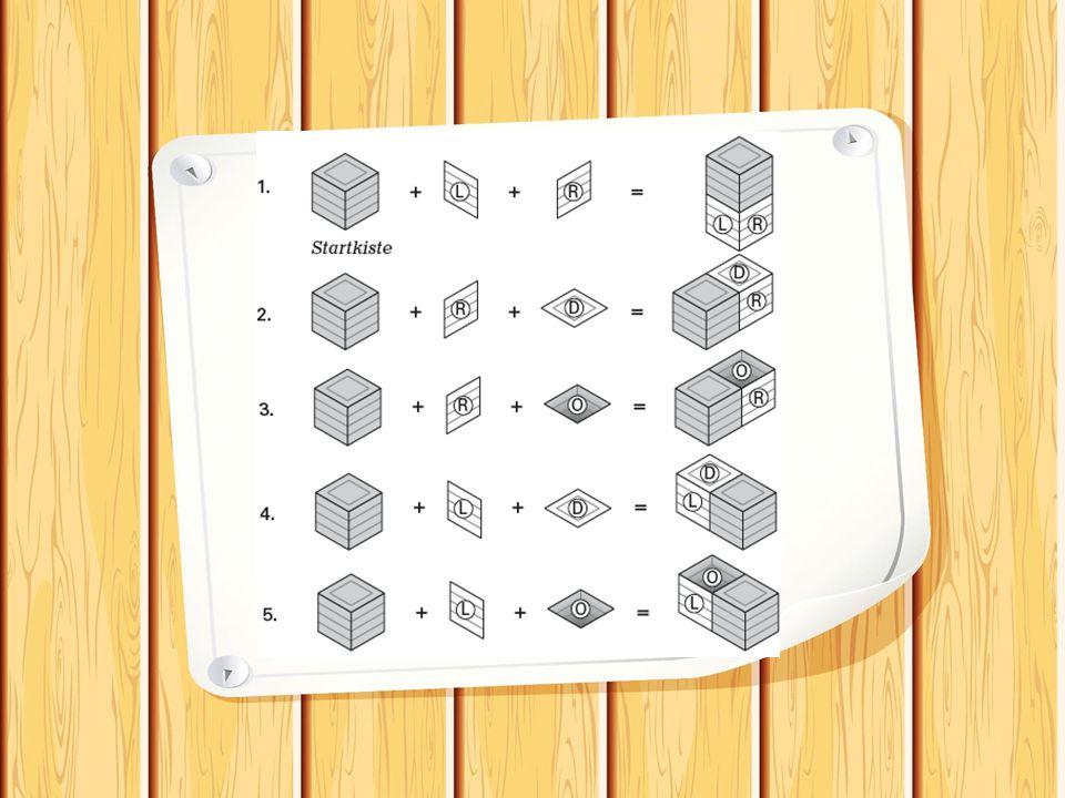Punktegewinne beim Legen einer Kiste Zwei Karten ein Punkt Eine Karte zwei Punkte Ohne Karte (Umlegen) drei Punkte (Variante für jüngere Kinder: Jede neu entstandene Kiste gibt einen Punkt)