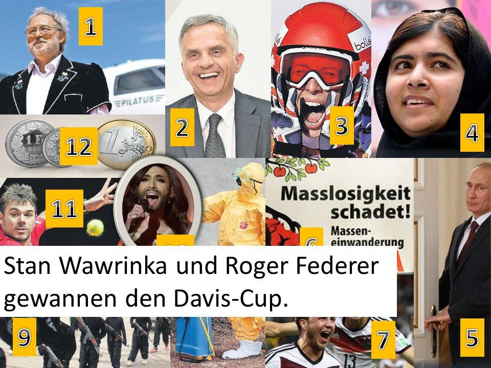 Stan Wawrinka und Roger Federer gewannen den Davis-Cup.