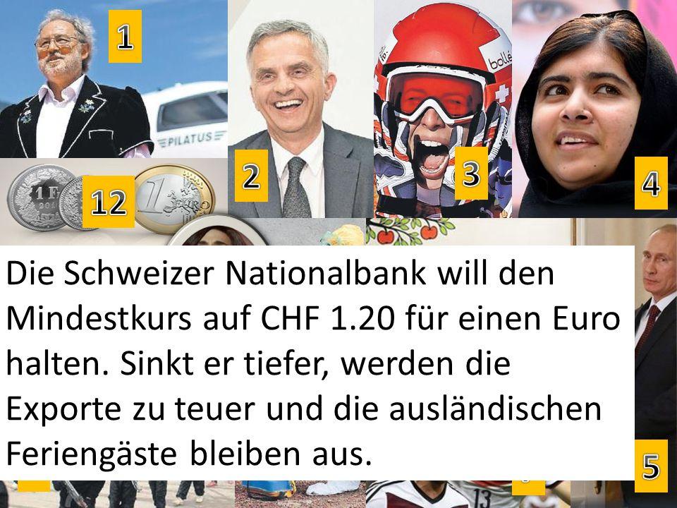 Die Schweizer Nationalbank will den Mindestkurs auf CHF 1.20 für einen Euro halten.