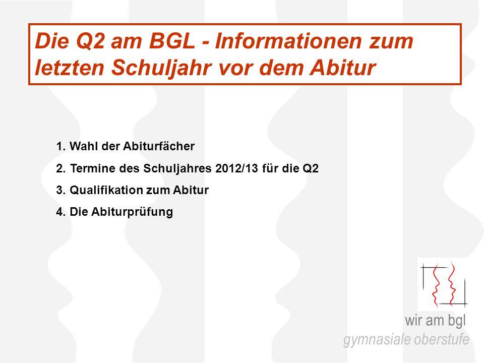 Die Q2 am BGL - Informationen zum letzten Schuljahr vor dem Abitur 1.