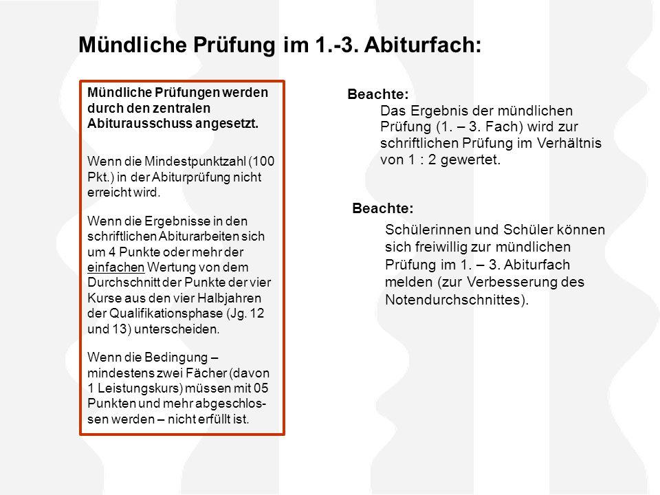 Mündliche Prüfung im 1.-3.