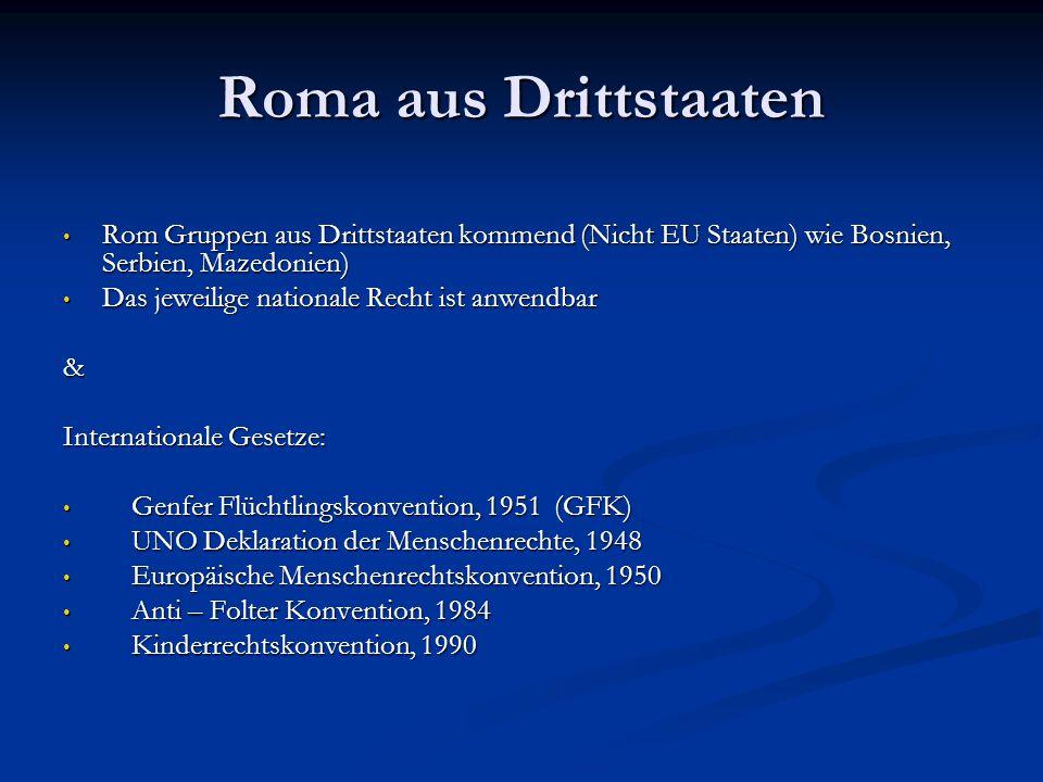 Roma als ethnische Minderheit anerkannt .