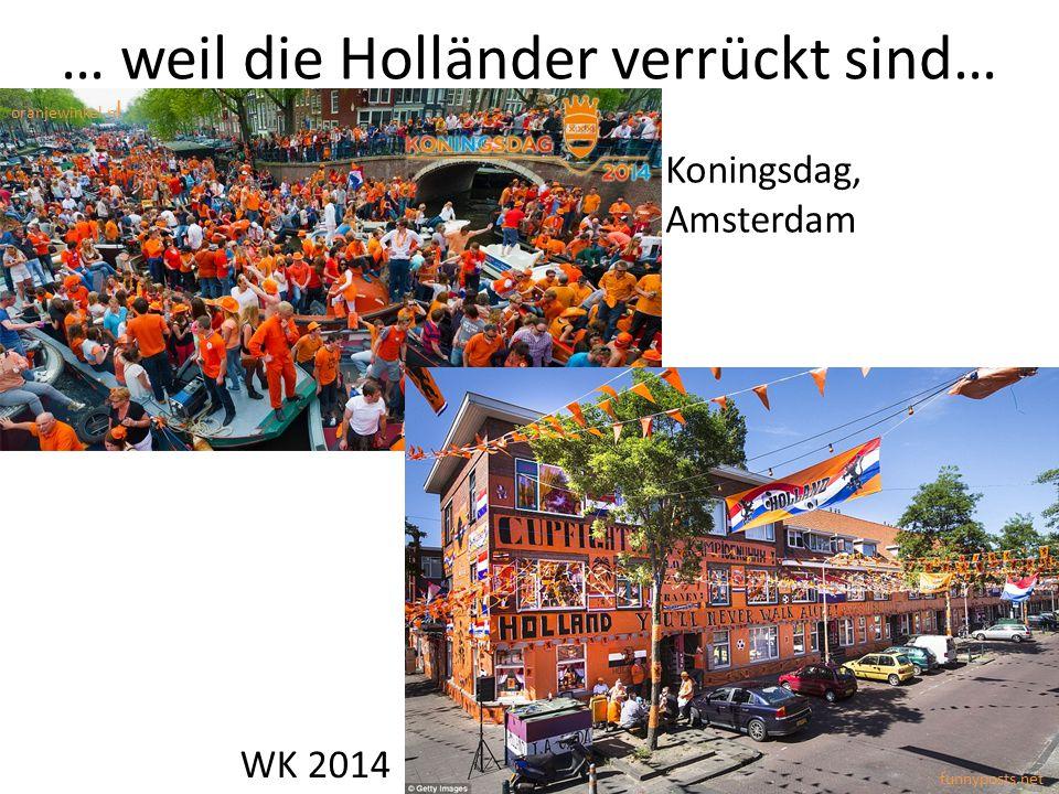 … weil die Holländer verrückt sind… Koningsdag, Amsterdam WK 2014 oranjewinkel.n l funnyposts.net