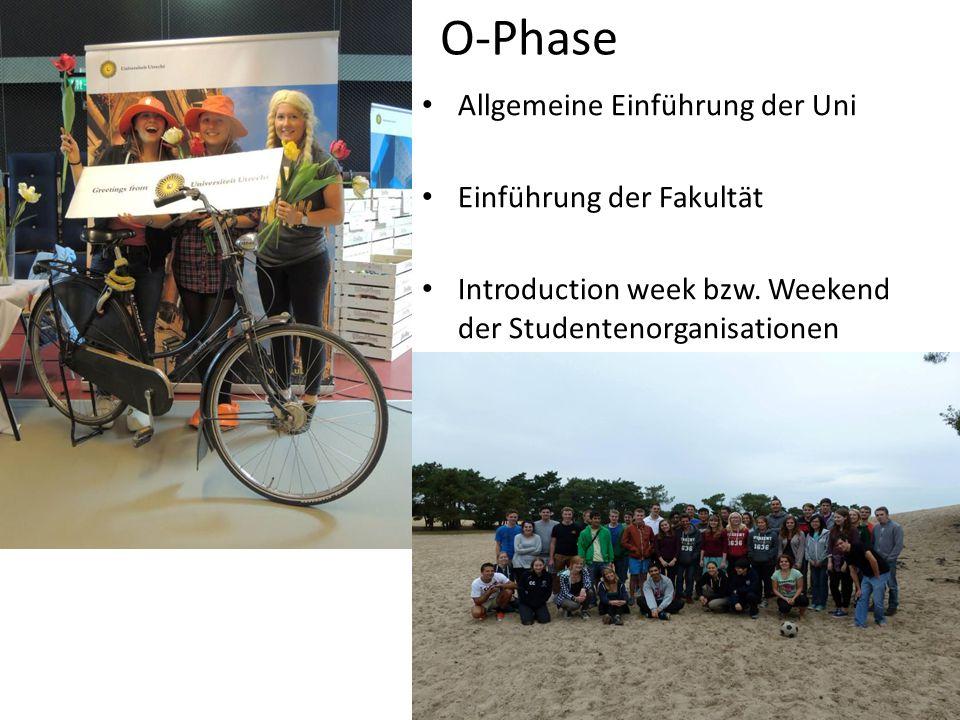 O-Phase Allgemeine Einführung der Uni Einführung der Fakultät Introduction week bzw.