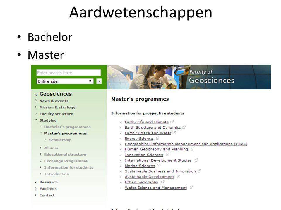 Aardwetenschappen Bachelor Master