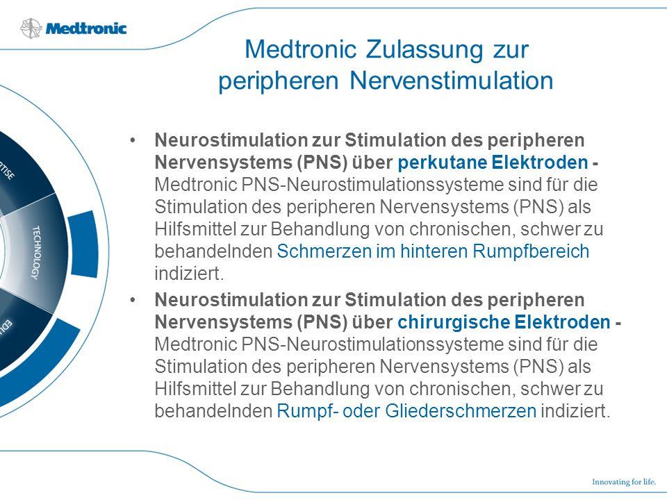 Medtronic Zulassung zur peripheren Nervenstimulation Neurostimulation zur Stimulation des peripheren Nervensystems (PNS) über perkutane Elektroden - M