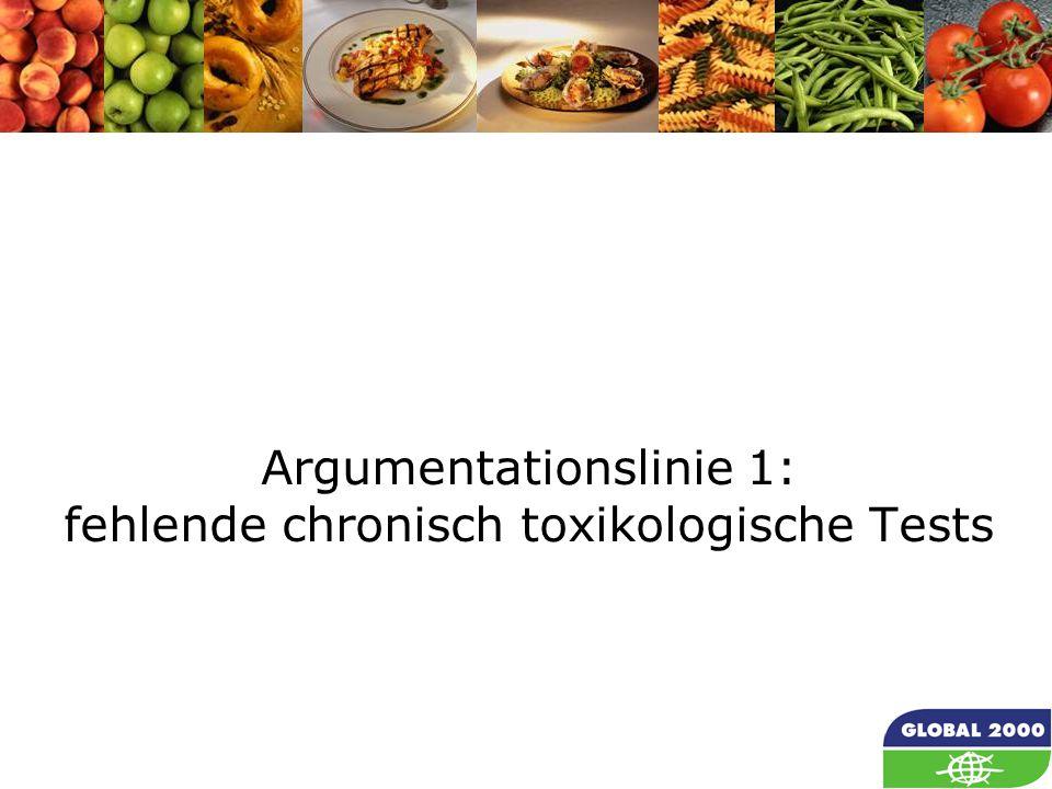 10 Argumentationslinie 1: fehlende chronisch toxikologische Tests