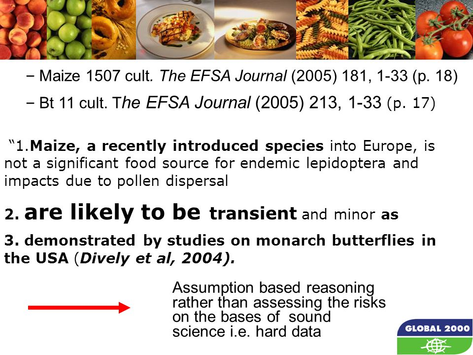 22 1.Maize, a recently introduced species into Europe, is not a significant food source for endemic lepidoptera and impacts due to pollen dispersal 2.