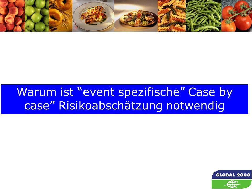 """25 Warum ist """"event spezifische"""" Case by case"""" Risikoabschätzung notwendig"""