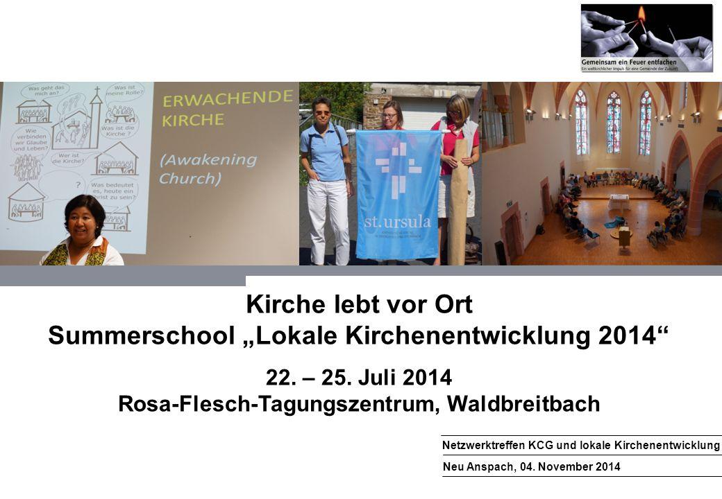 1 Netzwerktreffen KCG und lokale Kirchenentwicklung Neu Anspach, 04.