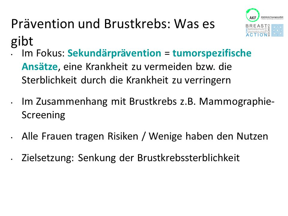 """Prävention und Brustkrebs: Was es gibt Weitere Ansätze chirurgische Prävention (""""prophylaktische Mastektomie, Entf."""