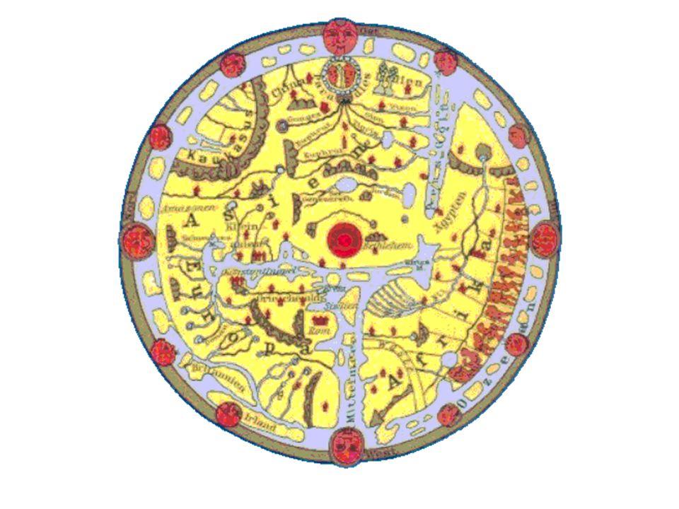 Fragen Wie sahen mittelalterliche Weltkarten aus.