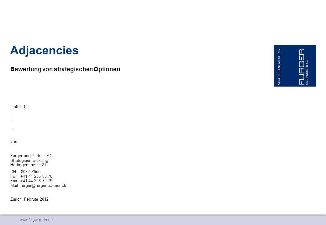 www.furger-partner.ch Bewertung von strategischen Optionen Adjacencies erstellt für … von Furger und Partner AG Strategieentwicklung Hottingerstrasse