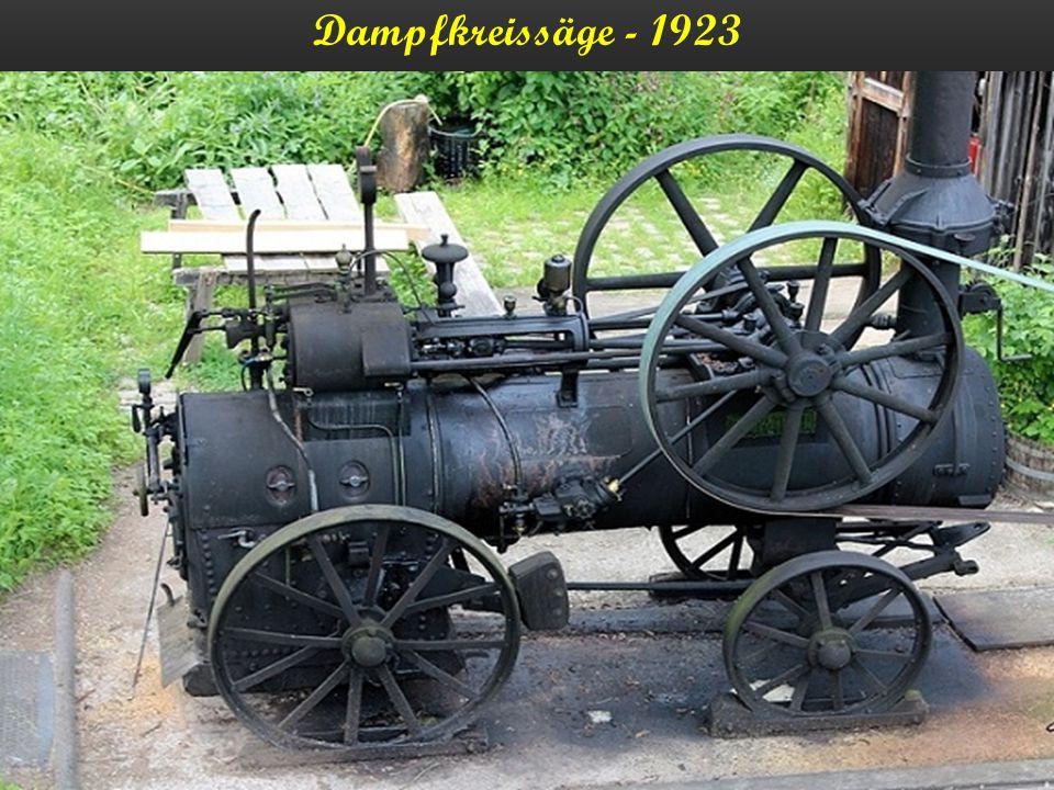 Dampftraktor - 1923
