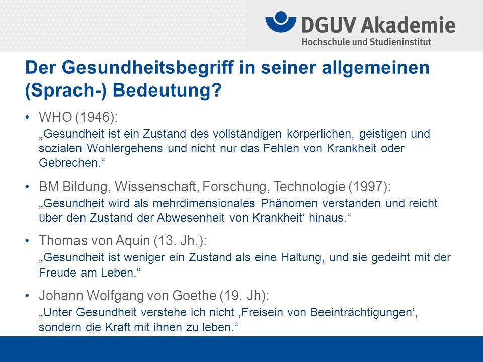"""""""Die Ausnahme und die Regel – zum Wirken des sozialen Schutzprinzips in der GUV Antrittsvorlesung von Prof."""