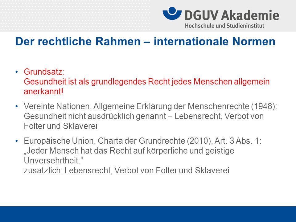 Der rechtliche Rahmen – nationale Normen Grundgesetz Art.