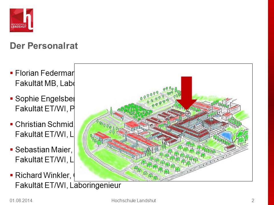 Der Personalrat  Florian Federmann, Vorsitzender Fakultät MB, Laboringenieur  Sophie Engelsberger, stellvertretende Vorsitzende Fakultät ET/WI, Proj