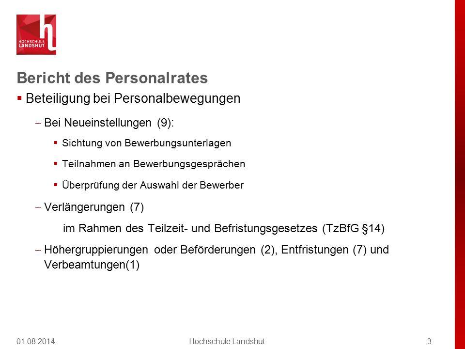 Bericht des Personalrates  Beteiligung bei Personalbewegungen  Bei Neueinstellungen (9):  Sichtung von Bewerbungsunterlagen  Teilnahmen an Bewerbu