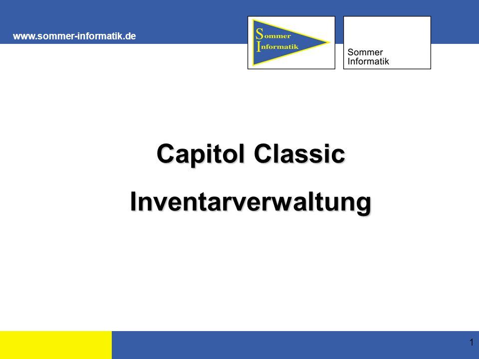 """www.sommer-informatik.de 2 Allgemein Das Modul """"Inventar dient zur Verwaltung des Inventars."""