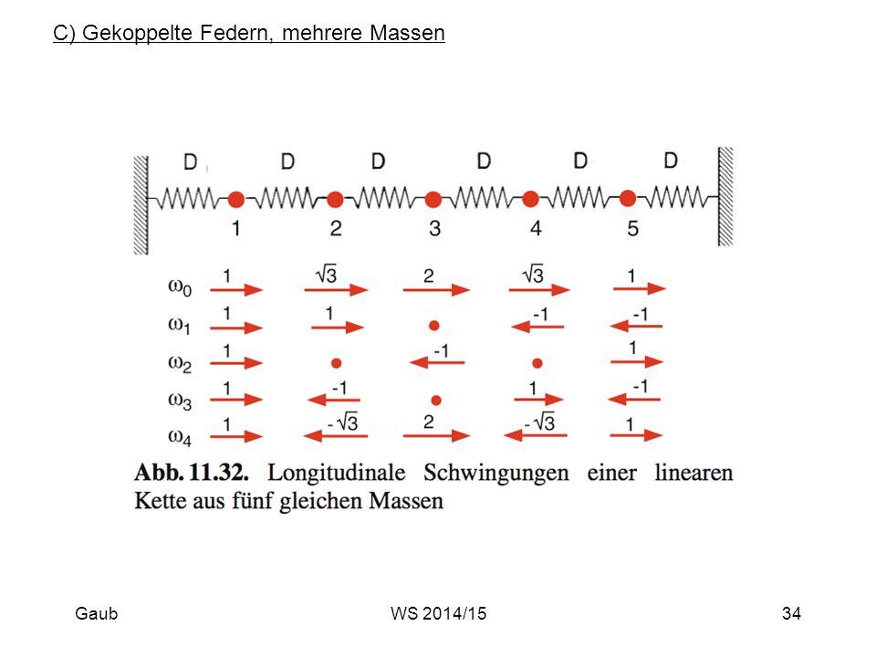 C) Gekoppelte Federn, mehrere Massen Gaub34WS 2014/15