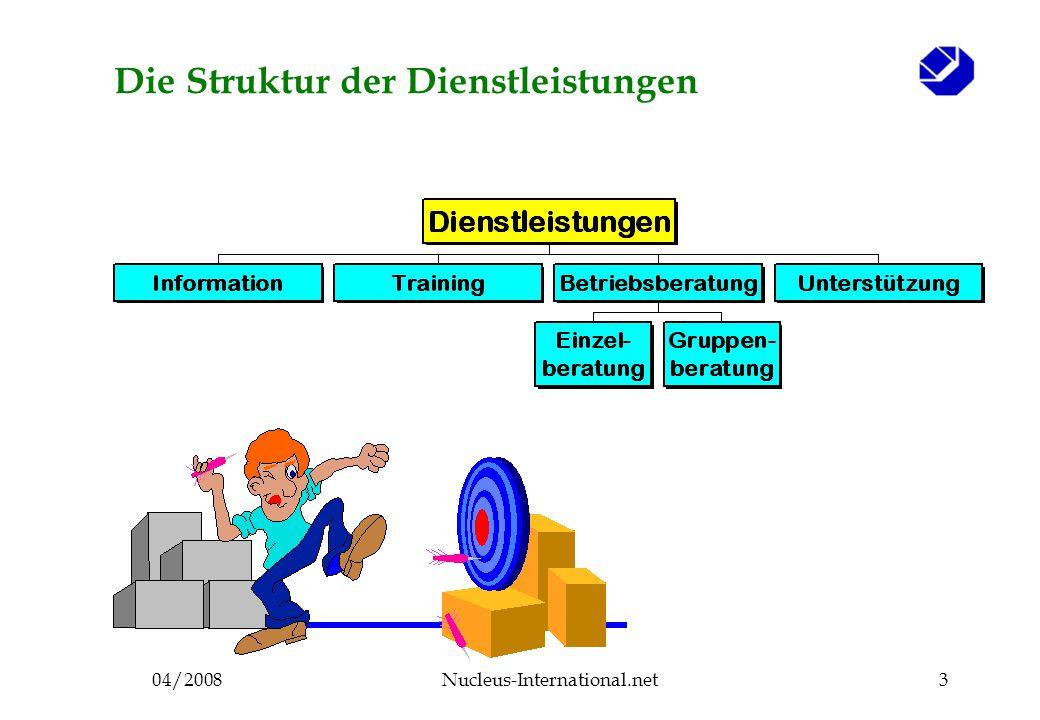 04/2008Nucleus-International.net3 Die Struktur der Dienstleistungen