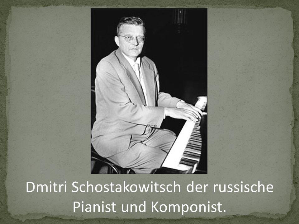 Dmitri Schostakowitsch der russische Pianist und Komponist.