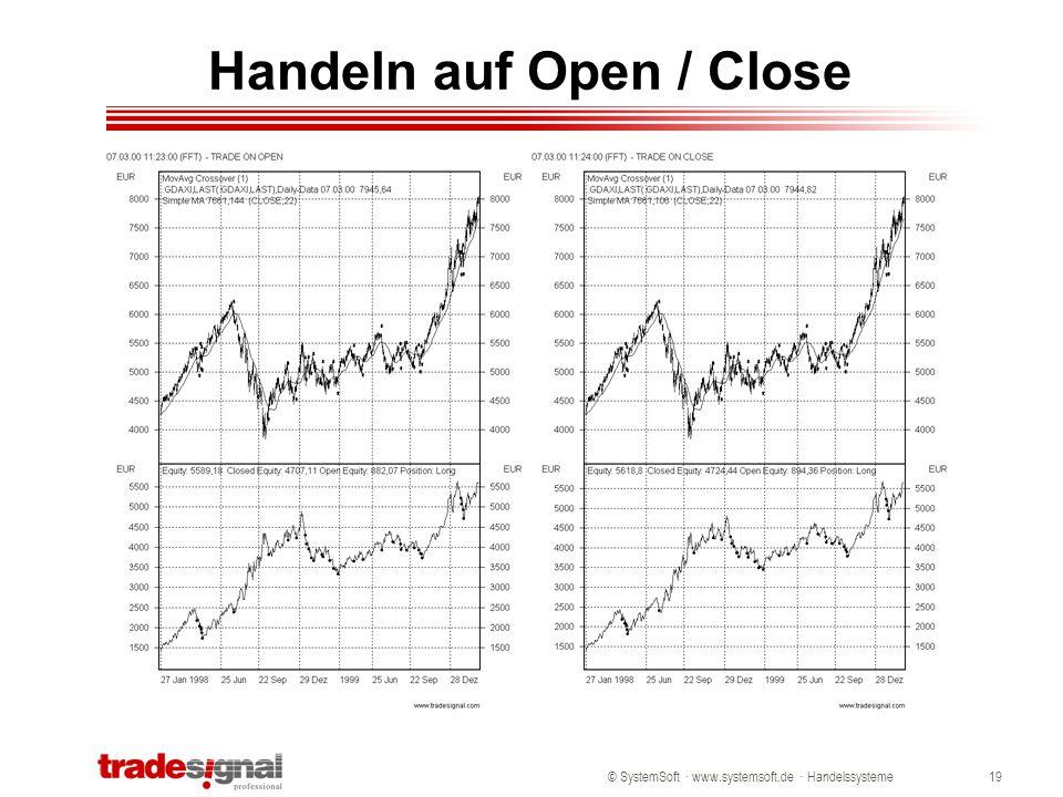 © SystemSoft · www.systemsoft.de · Handelssysteme19 Handeln auf Open / Close