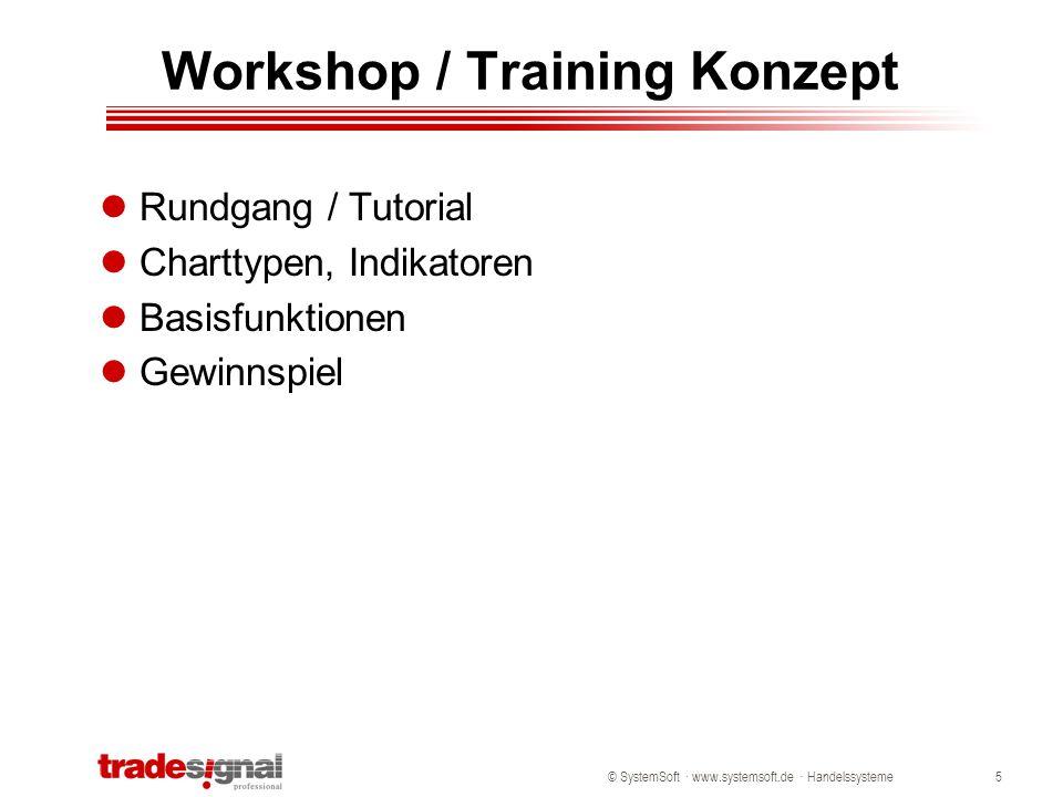 © SystemSoft · www.systemsoft.de · Handelssysteme6 Grundlagen - Übersicht Definition eines Handelssystems: Trending vs.