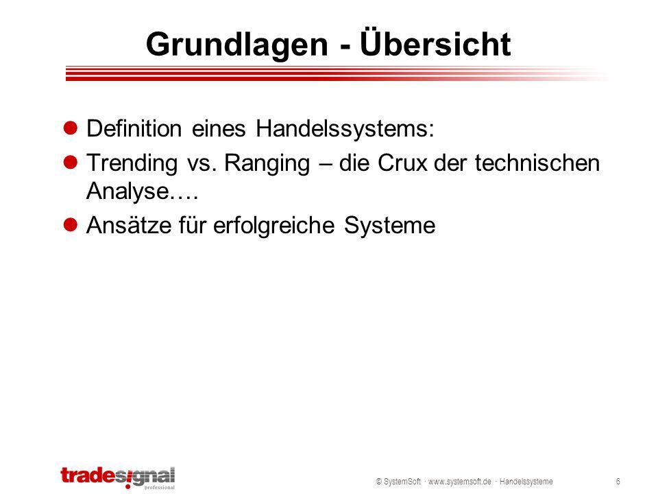 © SystemSoft · www.systemsoft.de · Handelssysteme17 Provision – 0,5% pro Trade