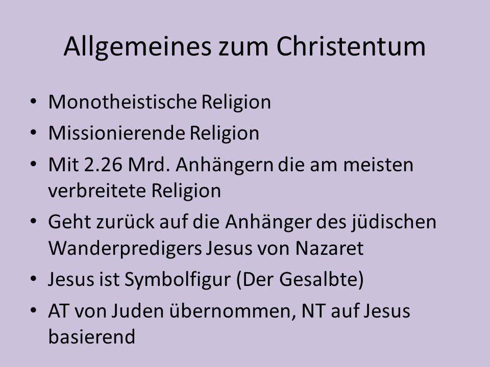 Die verschiedenen Konfessionen Katholizismus Protestantismus Orthodoxie