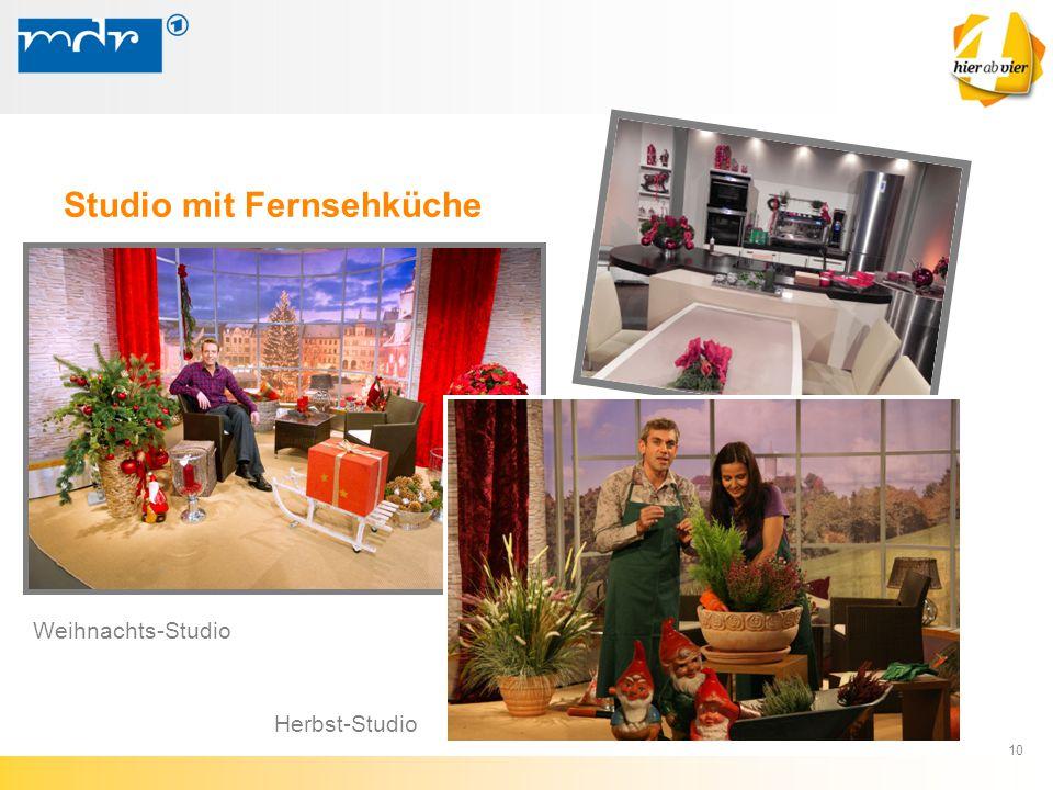 10 Herbst-Studio Weihnachts-Studio Studio mit Fernsehküche