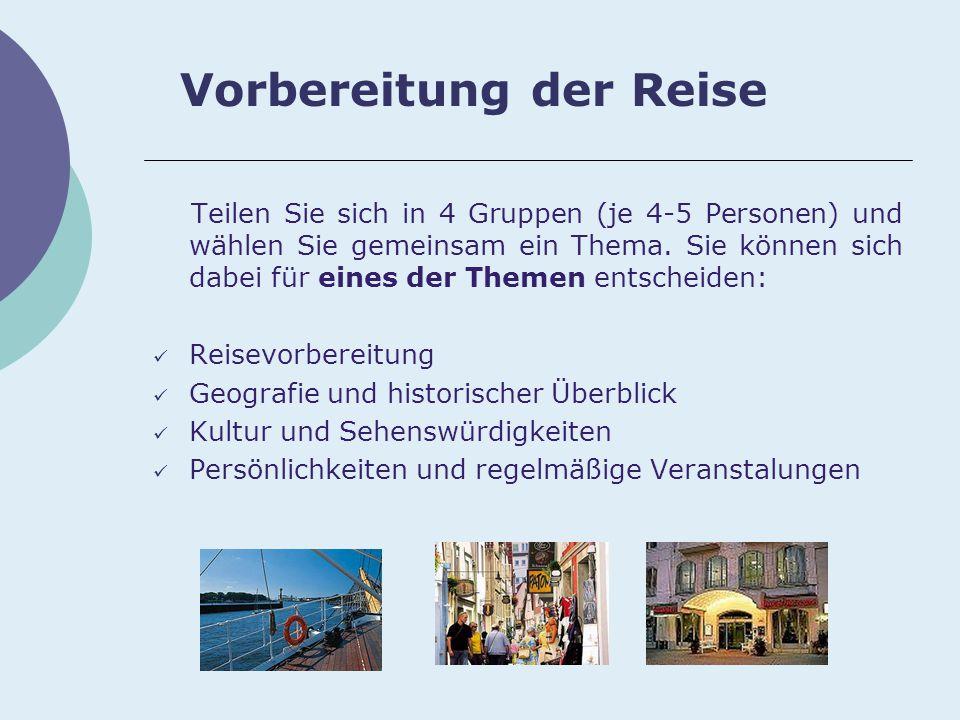 Links für Gruppe 4 Persönlichkeiten und regelmäßige Veranstalungen: http://de.wikipedia.org/wiki/Bremen http://de.wikipedia.org/wiki/Portal:Bremen http://www.bremen-tourism.de/k1- rubrik_haupt.cfm?name=Veranstaltungs%2DTipps&content=Vera nstaltungs%2DTipps http://www.bremen-tourism.de/k1- rubrik_unter_unter.cfm?rubrik=F%FChrungen http://www.bremen.de/sixcms/detail.php?template=01_subnavi_d&i d=3619803&_hauptid=551443&_subid=3619803 http://www.arttours-bremen.de/stadtfuehrungen.html