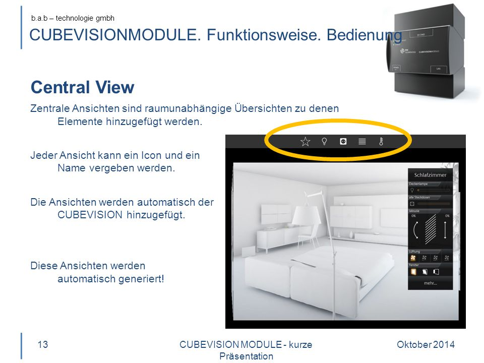 b.a.b – technologie gmbh CUBEVISIONMODULE.Funktionsweise.