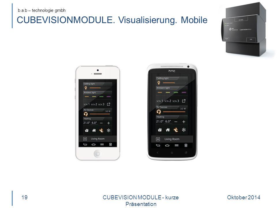 b.a.b – technologie gmbh CUBEVISIONMODULE.Visualisierung.