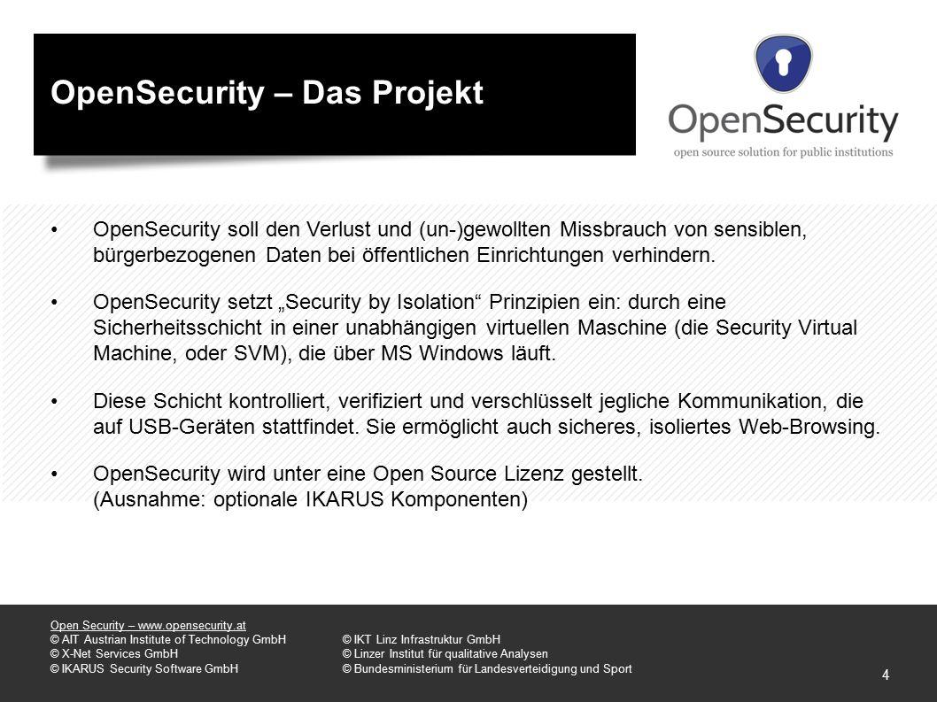 OpenSecurity – Das Projekt OpenSecurity soll den Verlust und (un-)gewollten Missbrauch von sensiblen, bürgerbezogenen Daten bei öffentlichen Einrichtungen verhindern.