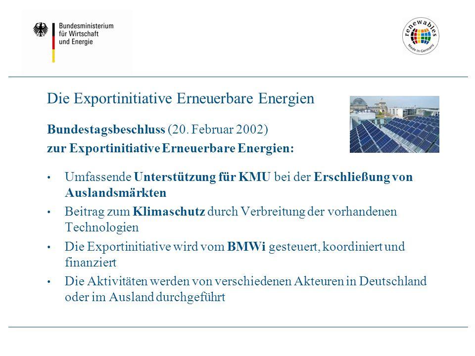 Logo Die Exportinitiative Erneuerbare Energien Bundestagsbeschluss (20.