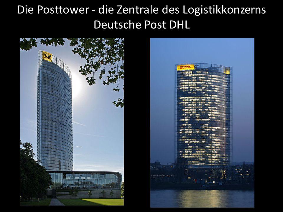 Die Posttower - die Zentrale des Logistikkonzerns Deutsche Post DHL
