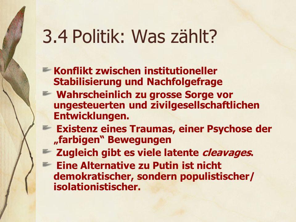 3.4Politik: Was zählt.