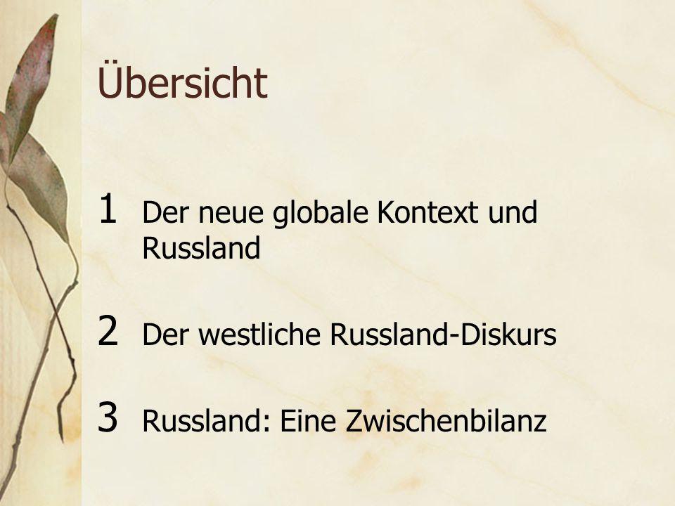 Übersicht 1 Der neue globale Kontext und Russland 2 Der westliche Russland-Diskurs 3 Russland: Eine Zwischenbilanz