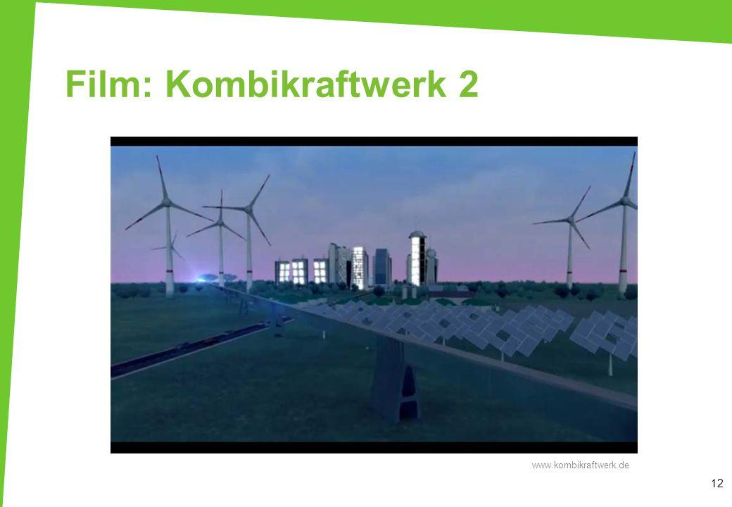 Film: Kombikraftwerk 2 12 www.kombikraftwerk.de