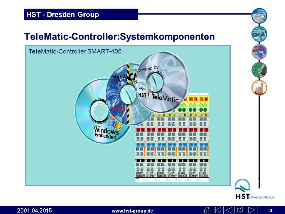 www.hst-group.de HST - Dresden Group TeleMatic-Controller:Systemkomponenten 3 2001.04.2015 TeleMatic-Controller SMART-400