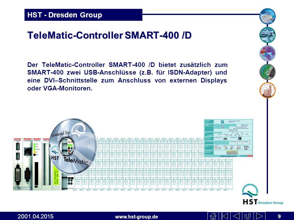 www.hst-group.de HST - Dresden Group TeleMatic-Controller SMART-400 /D Der TeleMatic-Controller SMART-400 /D bietet zusätzlich zum SMART-400 zwei USB-