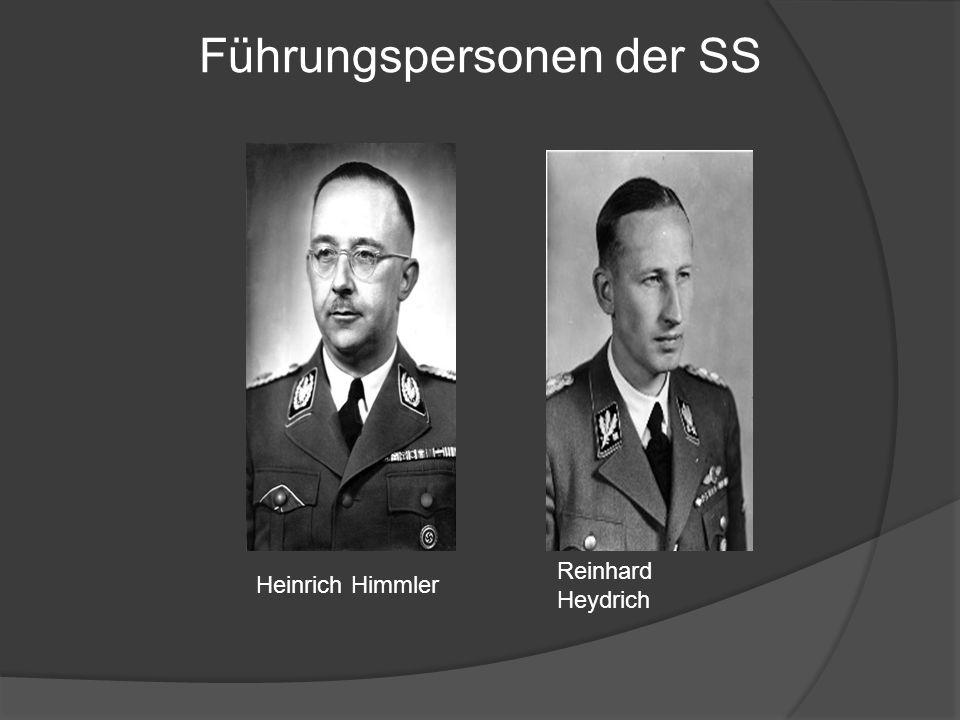 Heinrich Himmler Reinhard Heydrich Führungspersonen der SS