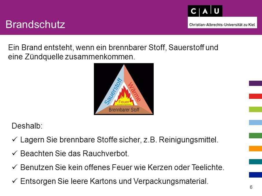 Brandschutz 7 Verhalten im Brandfall: 1.Ruhe bewahren.