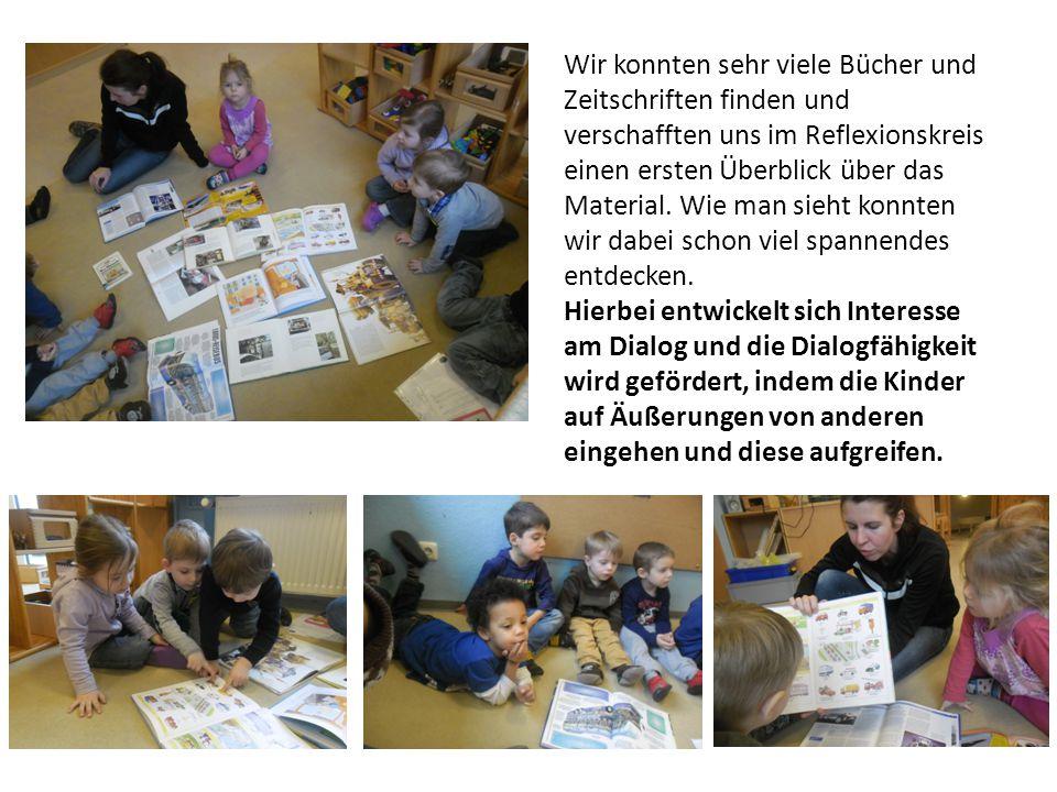 Wir konnten sehr viele Bücher und Zeitschriften finden und verschafften uns im Reflexionskreis einen ersten Überblick über das Material. Wie man sieht