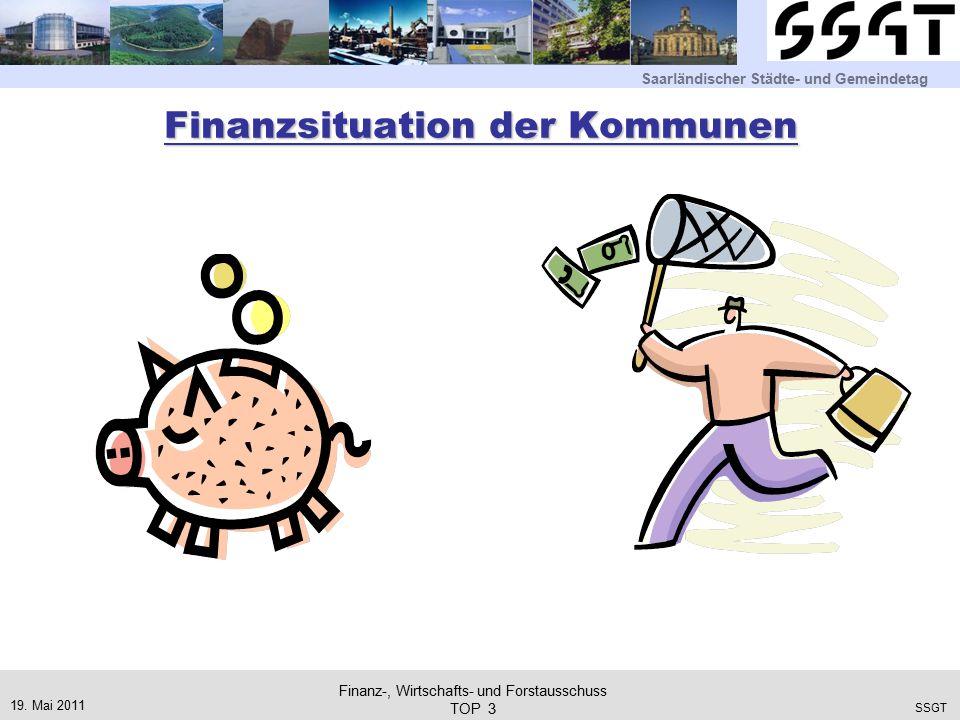 Saarländischer Städte- und Gemeindetag SSGT Finanzsituation der Kommunen 19.