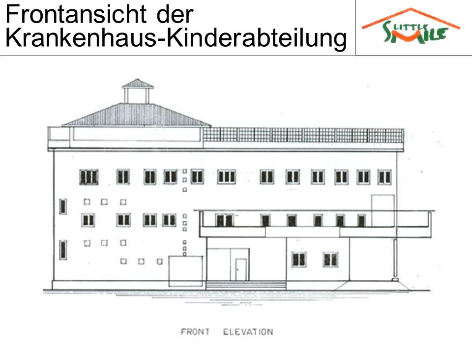 Frontansicht der Krankenhaus-Kinderabteilung