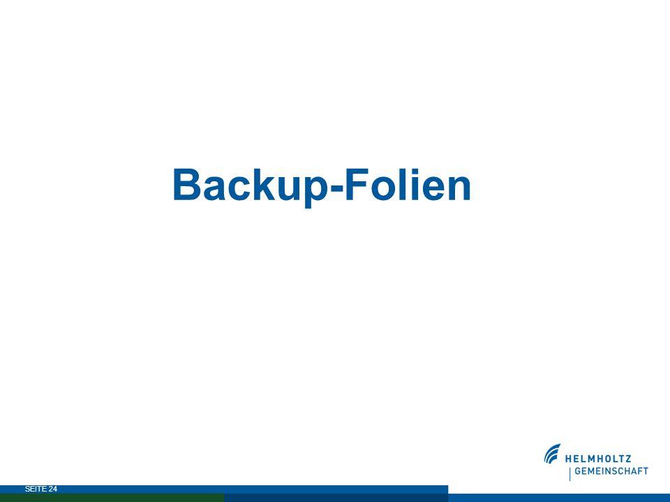 SEITE 24 Backup-Folien